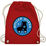 Shirtracer Vintage - Roller Queen Rollschuh - Unisize - Rot - WM110 - Turnbeutel und Stoffbeutel aus Bio-Baumwolle