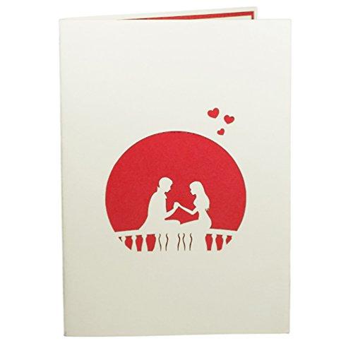 Favour Pop Up Glückwunschkarte zur Hochzeit. Auf kleinstem Raum ein filigranes Kunstwerk, dass dem jeweiligen Anlass eine angemessene und langwährende