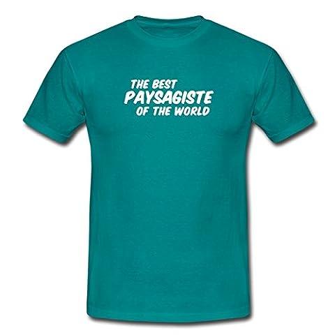Le meilleur paysagiste du monde T-shirt Homme de Spreadshirt®, XXL, bleu diva