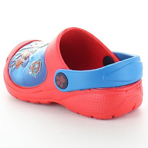 Paw Patrol Boys Clog Slip on Lightweight Walking Sandals Red/Blue