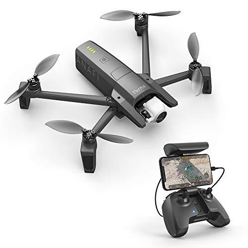 Parrot-ANAFI-Drone-Quadricoptre-Pliable-avec-Camra-4K-HDR-Compact-silencieux-autonome-Ralisez-vos-plans-en-contre-plonge-grce–une-camra-pivotante–180-verticalement