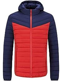 Cebbay Liquidación Abrigo de algodón de los Hombres Sudadera con Capucha Costuras Gruesas, otoño e Invierno, cálido y Confortable.Ropa de Deporte al Aire Libre