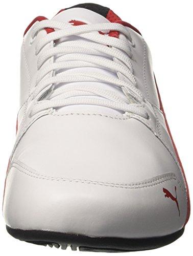 Puma Sf Drift Cat 7, Baskets Basses Unisexes Blanches (corsa Blanc-rouge)