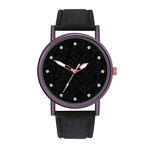 Orologio da polso analogico al quarzo di Lyperkin, orologio da polso analogico di lusso con cinturino in pelle con quadrante casuale per uomo e donna N-02