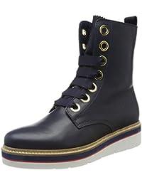 Tommy Hilfiger Damen M1285anon 3a Biker Boots
