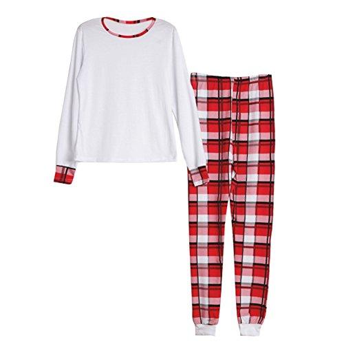 Yalatan Weihnachten gestreiften pyjamas sets Familie Passende Shirts Hosen Baby Strampler Lounge Wear Nachtwäsche (Tag Hose Lounge)