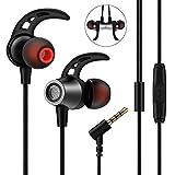 Nasharia In Ear Kopfhörer, mehrweg, Ear Ohrhörer Metallisches Stereo Headset Earphones mit Ohrstöpseln und Mikrofon für iPhone, Android Smartphones und MP3 Players(Schwarz)