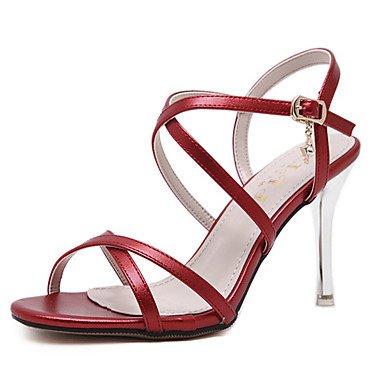 LvYuan Damen-Sandalen-Kleid-Lackleder-Stöckelabsatz-Andere-Schwarz Gelb Rot Weiß Red