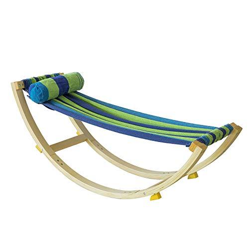 SoBuy KMB16-J Kinderhängematte mit Sicherheitsstopper Hängematte Schaukelliege Schaukel für Kinder BHT ca.: 120x46x36cm