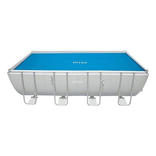 Intex Rechteckige Solarabdeckplane Krystal Clear für Pools, blau, Ø 538 x 253 cm