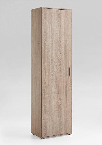 4018-001 INCA I Eiche Sägerau Nb. Mehrzweckschrank Schuhschrank Stauraumschrank ca. 50 x 184 x 35 cm