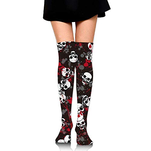No Soy Como Tu Hohe Socken Bloody Skull Unisex Compression Socks Knee High Socks Soccer Socks for Running,Nurses,Shin Splints,Travel,Flight,Pregnancy & Maternity.
