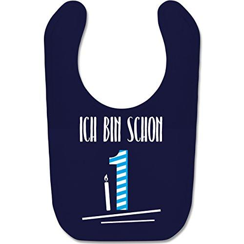 Shirtracer Geburtstag Baby - Ich bin schon 1 Blau - Unisize - Navy Blau - BZ12 - Baby Lätzchen Baumwolle (Baby, Geburtstag Party-ideen)