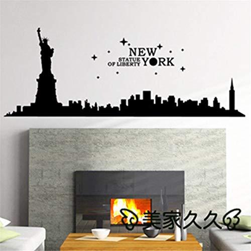New York City Wahrzeichen Wandaufkleber New York City Aufkleber Home Decoration Poster kaffee 33x90cm