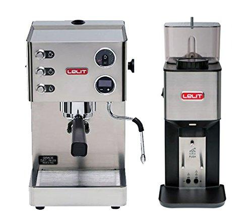 SET Lelit PL81T Grace Siebträger Espressomaschine mit Kaffeemühle Lelit PL71