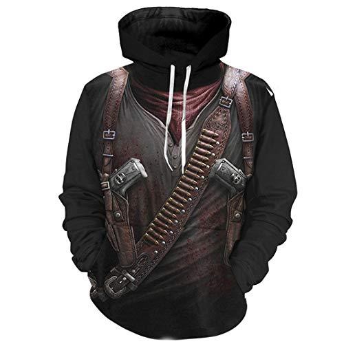 B-Pertand Assassin Cosplay 3D Hoodies Männliche 3D Print Hoodies Coole Mode Kapuzenpullis Photo Color XL