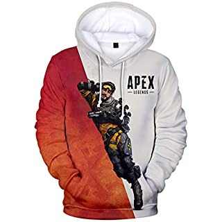 FLYCHEN Men's Hoodie Apex Legends Sweatshirt 3D Printed Pull battlegrounds Game Long Sleeve (M, Mirage 273)