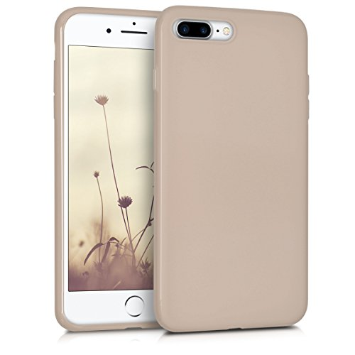 kwmobile Apple iPhone 7 Plus / 8 Plus Hülle - Handyhülle für Apple iPhone 7 Plus / 8 Plus - Handy Case in Beige matt