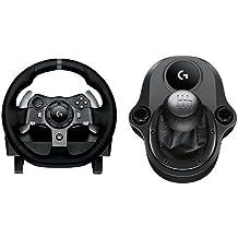 Logitech G920 - Volante para simulación de carreras + Logitech Driving Force Shifter Palanca de cambios para volante