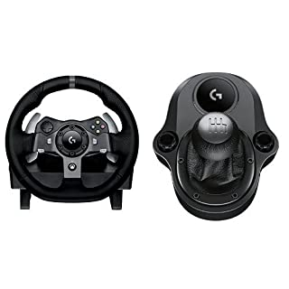 Logitech G920 - Volante para simulación de carreras + Logitech Driving Force Shifter Palanca de cambios para volante (B015CXCRVE) | Amazon price tracker / tracking, Amazon price history charts, Amazon price watches, Amazon price drop alerts