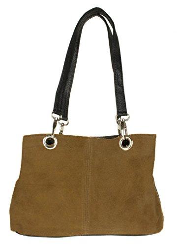 Girly Handbags, Damen Schultertasche braun khaki Girly HandBags