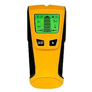 PUAO Buscador de Pernos de Pared con función de Detector de Pared con Pantalla LCD Digital, Sensor de Enganche de Centro, botón de Metal y Cable de CA en Vivo y detección de escáner de Madera