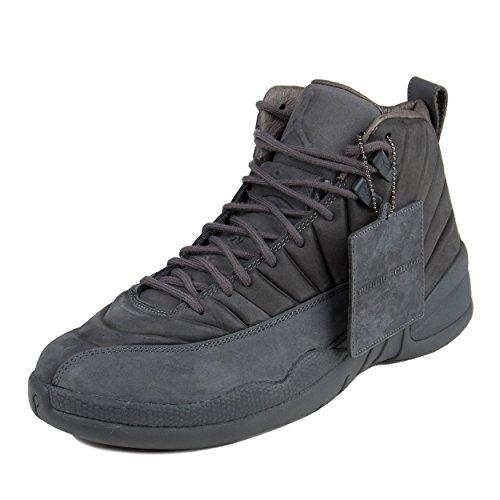 Nike Herren Air Jordan 12 Retro Sportschuhe-Basketball, Gris/Negro (Dark Grey/Dark Grey-Black), 45 EU (Jordan Schuhe Sale Für Männer)