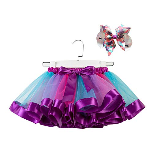 Amphia - (2-11T Tutu-Rock für Kinder - Tutu + Hair Strap - Mädchen Kinder Tutu Party Dance Ballett Kleinkind Baby Kostüm Rock + Bogen Haarnadel Set