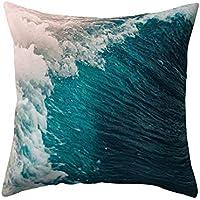 """display08Natural Sea Wave impresión funda de almohada de decoración para el hogar sofá cama funda para cojín, poliéster, 11#, 17.72"""" x 17.72"""""""