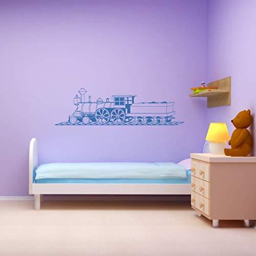 okomotive Wand Tattoo Lok Eisenbahn Zug Kinderzimmer Wandaufkleber Kinderwelt Aufkleber ca. 120 x 34 cm shellgelb ()
