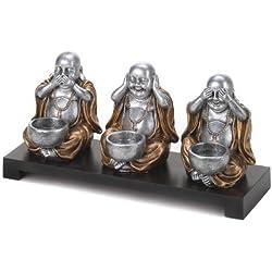Sentado Buda portavelas