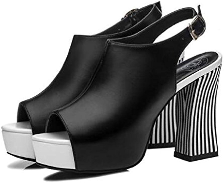 Sandalias De Mujer De Verano / Zapatos De Tacón Alto De Plataforma Abierta / Impermeable Con Plataforma Abierta...