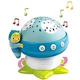 #0618 Musikmobile Deckenprojektor Musik-Pilz mit 4 Melodien Blau • Lichtprojektor Einschlafhilfe Babybett Spieluhr Baby Spielzeug
