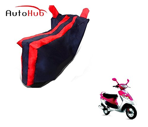 Auto Hub Black Red Bike Body Cover For TVS Scooty Pep Plus  available at amazon for Rs.275