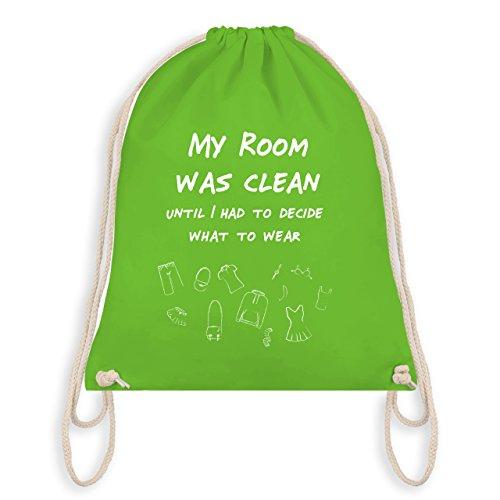 Typisch Frauen - My room was clean until - Turnbeutel I Gym Bag Hellgrün