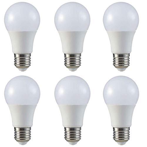 LED Glühbirne   Ersetzt 60w   6er Set E27   A60 Leuchtmittel   9 Watt   806 Lumen   2700 Kelvin