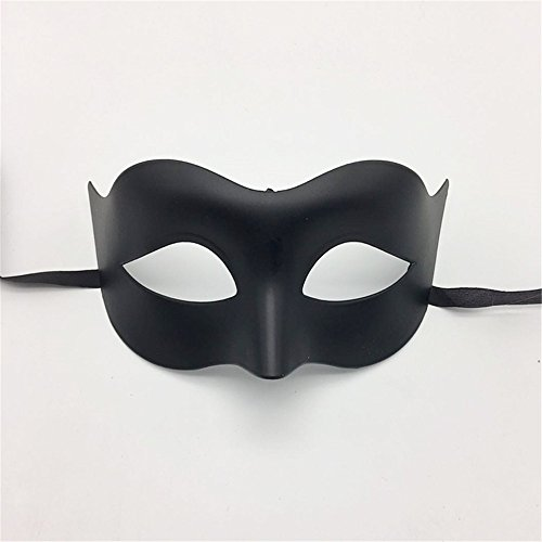 Maskerade,Glamour-Männer Maske Halloween Make-up Prom Maske Damen Volltonfarbe Minimalist Half Face Zorro Maske Maske schwarz Masquerade