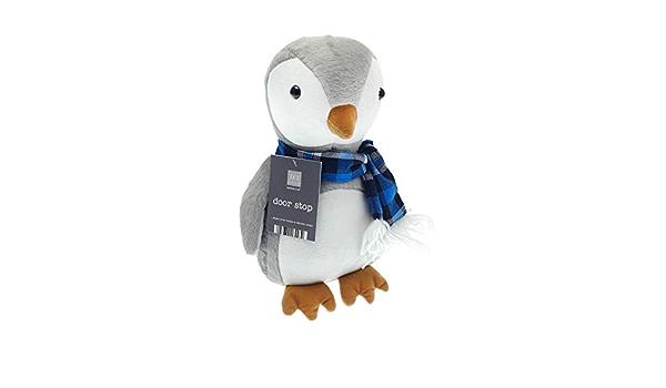 Take me home peluche pingouin butoir pour portes ~ décoratif butée de porte marron