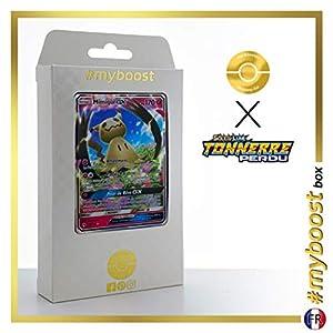 Mimiqui-GX (Mimikyu-GX) 149/214 - #myboost X Soleil & Lune 8 Tonnerre Perdu - Box de 10 Cartas Pokémon Francés