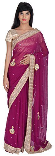 tanishq-designers-womens-georgette-saree-purple