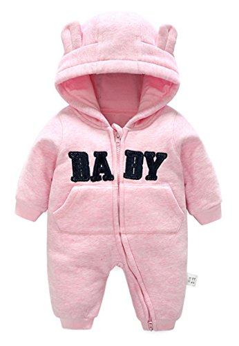 339db9f5ca977 Y-BOA Combinaison Hiver Ensemble Pyjama à Capuche Bébé Mignon Déguisement  Chaud Rose Size1