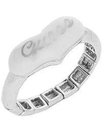Guess Damen Fingerring Sonstiges Silber/Weiß Heart UBR41203-S