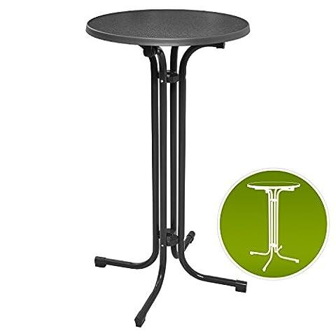 Table de bistrot pliante - Mange debout - Ronde - jardin terrasse balcon - Bellini G70110 - Gris - Ø 60x110cm -