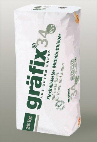 Flex.Mittelbettkleber (gräfix 34 fein) auf Trassbasis a 25 kg