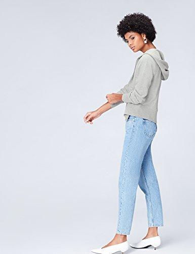 FIND Damen Kapuzenpullover mit Reißverschluss Grau (Grey Grey Marl), 38 (Herstellergröße: Medium) - 2
