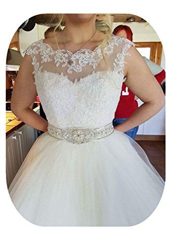 YASIOU Damen Hochzeit Jacke Top Spitzen für die Braut Spitzen Bolero zum Brautkleid Bolerojäckchen Jacke