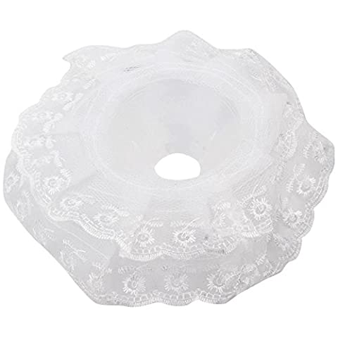 JaneDream 1 Pc Very Useful,Nice Wedding Home DIY Vogue Flower With Lace Collar White