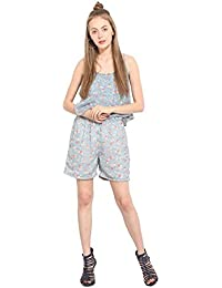 Lucero Multi floral georgette casual jumpsuit / playsuit for women and girls