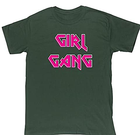 HippoWarehouse Girl Gang Rock Chick unisex short sleeve t-shirt
