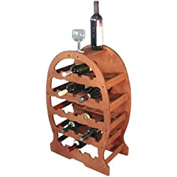 Botellero madera 23plazas Nogal cm.49x 26,5H.76[MACHX]